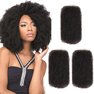 3 Bundles Afro Kinkys Bulk Human Hair (12