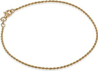 Romantico Casanova Rope Bracciale (Placcato Oro) 1,5 mm Uomo/Donna in Argento 925 - Made in Italy - ROPE con Box Regalo