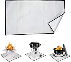 GRYSERCH Fire Pit Mat & Grill Mat Deck Protector,Portable Camping Fireproof Mat- Prevent Your Deck Patio & Lawn from Damag...