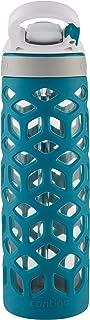 Contigo 50977 Ashland Autospout Glass Water Bottle, Scuba 591 ml Capacity, Blue