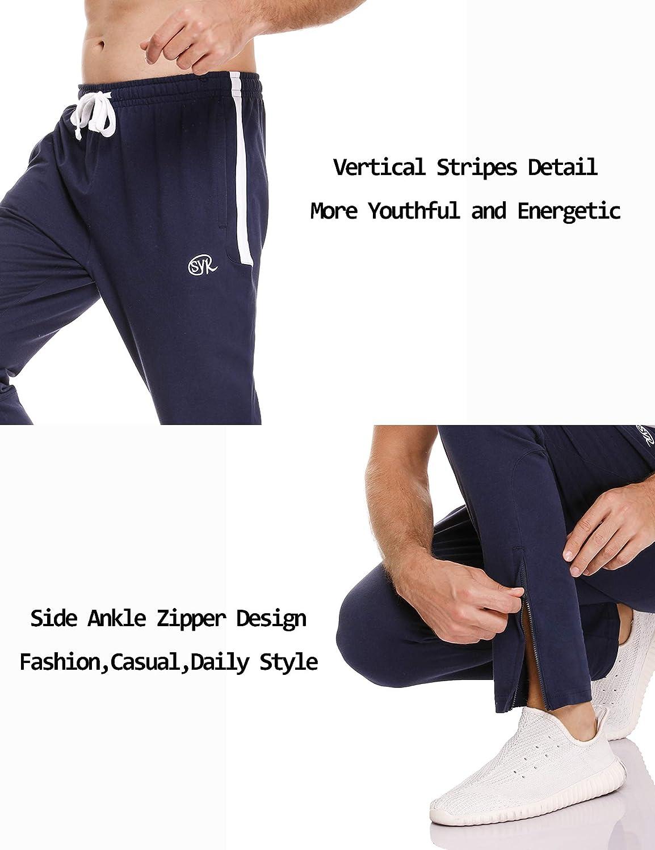 Sykooria Pantalon de Jogging Homme en Coton Sport Fitness Casual Pants Pantalon de Surv/êtement