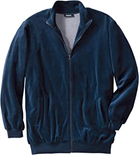 Men's Big & Tall Velour Full-Zip Jacket