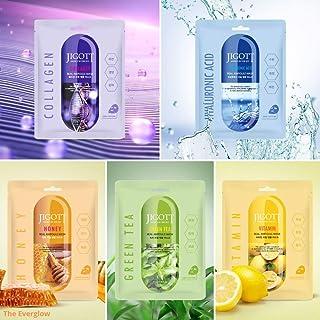 JIGOTT 10pcs COMBO MULTIPACK (COLLAGEN, HONEY, VITAMIN, HYALURONIC ACID, GREEN TEA) Real Ampoule Korean Serum Mask Sheet P...