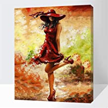 Paint by Numbers Set Abstract Female Elegance Charming for Adults and Children DIY Canvas Oil Painting