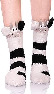 Womens Girls Fuzzy Slipper Socks 3D Cute Animal Microfiber Super Soft Warm Winter Home Floor Socks