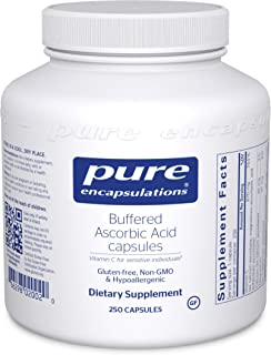 Pure Encapsulations - Buffered Ascorbic Acid Capsules - Vitamin C for Sensitive Individuals - 250 Capsules