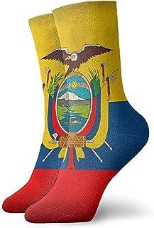 Grandes Regalos Unisex Mujeres Hombres Bandera de Ecuador Vintage Suave y Transpirable Tobillo Alto Calcetines Casuales de Algodón Más Gruesos Medias Debajo de la Rodilla Calcetines Cómodos
