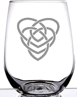IE Laserware Irish Celtic Motherhood Knot Stemless Wine Glass -