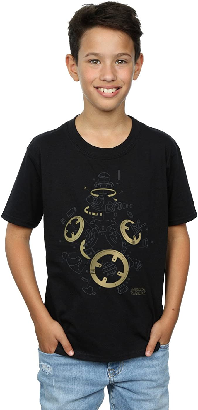STAR WARS Boys The Last Jedi BB-8 Deconstructed T-Shirt 7-8 Years Black
