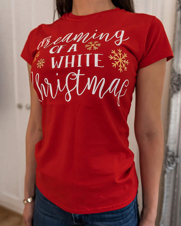 AWDIP Im Dreaming of a White Christmas T Shirt Womens