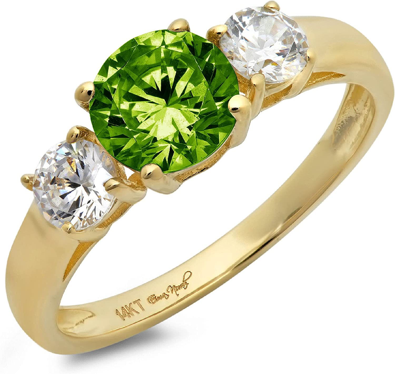 1.44ct Brilliant Luxury goods Round Factory outlet Cut Solitaire 3 Na Designer Genuine stone