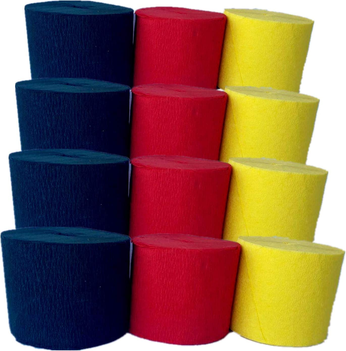 Fonder Mols Soldering 12 Rolls Crepe Paper Red OFFicial mail order fo Yellow Black Streamers