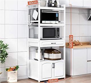Daquan Lot de 5 étagères de rangement de cuisine pour four à micro-ondes Blanc