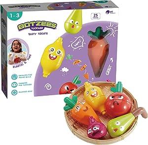 BOTZEES Toddler Building Toys, Big Soft Blocks for Baby, Preschool Learning Resources, Educational Stem Toys for Pre-Kindergarten Kids Girl Boy Ages 1-3 - Tasty Treat