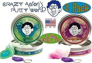 Crazy Aaron's Thinking Putty Phantoms (UV Reactive) Foxfire & Arctic Flare wi...
