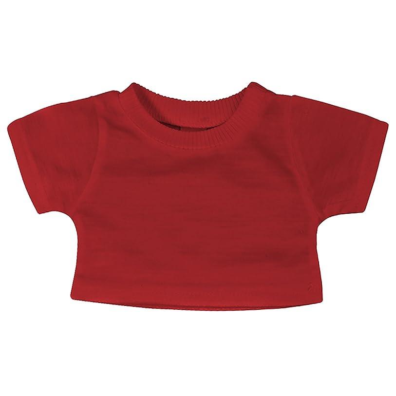 (マンブルズ) Mumbles テディーベア用Tシャツ ぬいぐるみ用Tシャツ (M) (レッド)