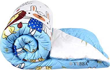 VYBBA Microfiber Reversible Comforter / AC Blanket for Winter / Duvet / Quilts , Double Bed King Size (Blue & White, 200