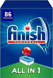 comprar comparacion Finish Powerball All in 1 Original - Pastillas para el Lavavajillas Todo en 1, Fragancia Limón, Formato 86 Unidades