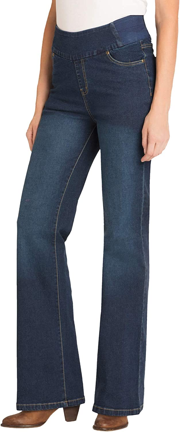 Woman Within Women's Plus Size Bootcut Smooth Waist Jean