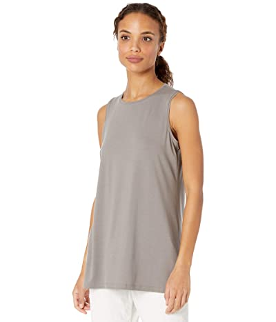 Eileen Fisher Crew Neck Long Tank (Smoke) Women