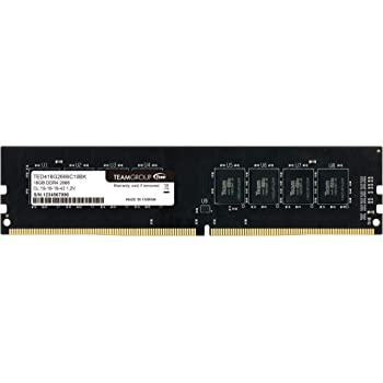 TEAMGROUP Elite DDR4 8GB Single 2400MHz PC4-19200 CL16 Unbuffered Non-ECC 1.2V 1Rx8 UDIMM 288 Pin PC Computer Desktop Memory Module Ram Upgrade- TED48G2400C1601 - (1x8GB) Single