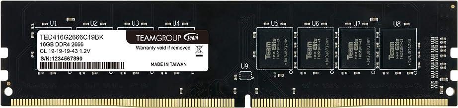 TEAMGROUP Elite DDR4 8GB Single 2400MHz PC4-19200 CL16 Unbuffered Non-ECC 1.2V 1Rx8 UDIMM 288 Pin PC Computer Desktop Memo...