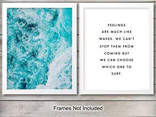 Ocean Waves Wall Art Print - Ready to Frame (8X10) Photo - Great Gift for Surfers and Beach Lovers - Perfect for Beach House - Cool Home Decor