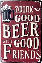 30cm Beer Good iHAZA 1pcs Poster M/étallique Affiche Peinture Art D/écoratif Vintage pour Bar Caf/é Pub Vintage Poster Mural r/étro Plaque en m/étal Bar Pub 20