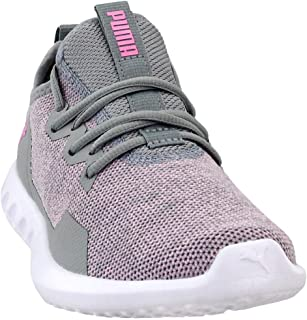 Womens Carson 2 x Knit Running Casual Shoes, Grey;Pink, 6