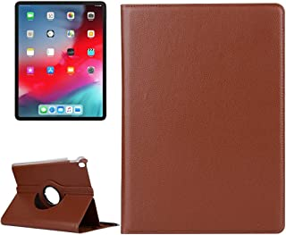 LFPING New Litchi Texture Horizontal Flip 360 Degrees Rotation Leather Case for iPad Pro 11 inch (2018),with Holder (Color : Brown)