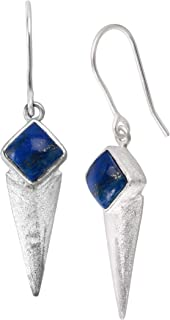 Silpada `Waverly` Natural Lapis Triangular Drop Earrings in Sterling Silver