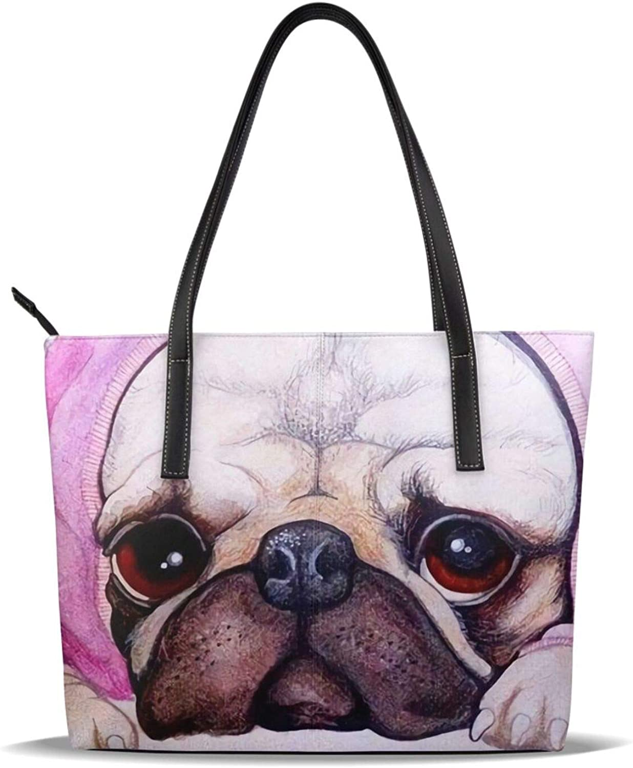 Cute Pug With Outlet ☆ Free Shipping A Hammer On Its Head Pu Ranking TOP3 Printed Pattern Leather Ca