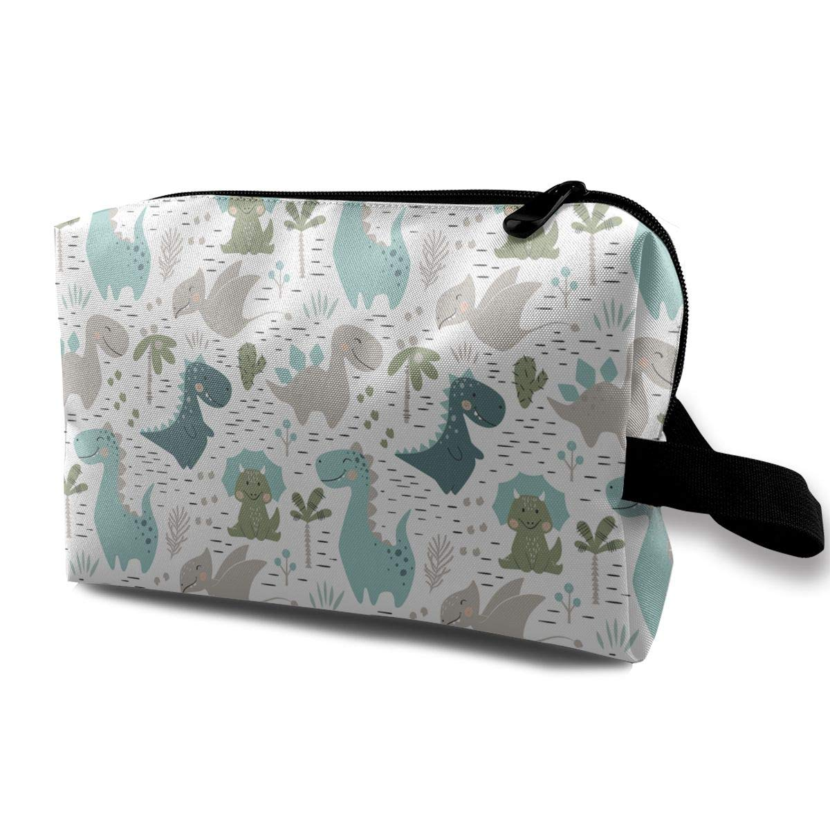 Travel Cosmetic Bag Large Dinosaur Zip Makeup With San Diego Mall Manufacturer direct delivery Organizer