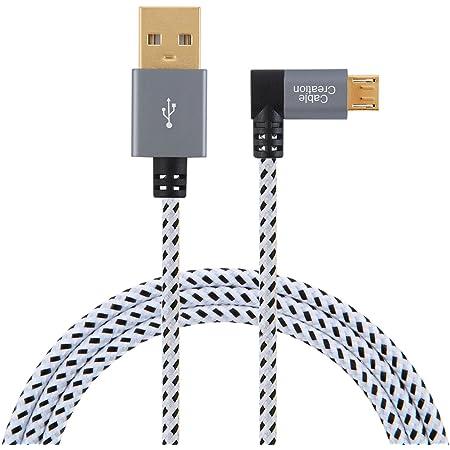 Kurz Winkel Micro Usb Kabel Cablecreation Rechtwinklig Computer Zubehör