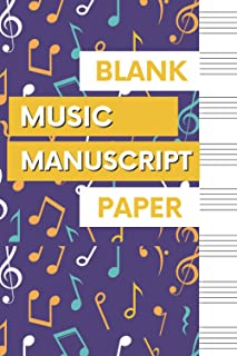 Blank Music Manuscript Paper: Wide Staff Music Writing Notebook, Gift for Music Lovers