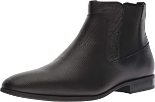 Calvin Klein Men's Christoff Epi Leather Chelsea Boot