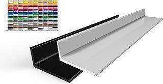Ángulo de Aluminio [20x 15x 2mm x 1000+ de 4mm] Blanco RAL 9016brillante (Almacenamiento)