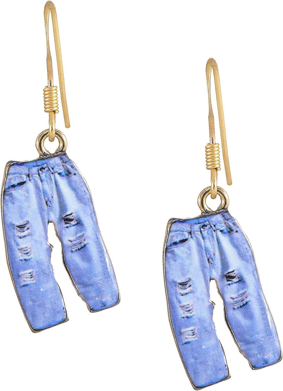 chelseachicNYC Whimsical Charm Dangle Fresno San Antonio Mall Mall Blue Earrings - Butterfly