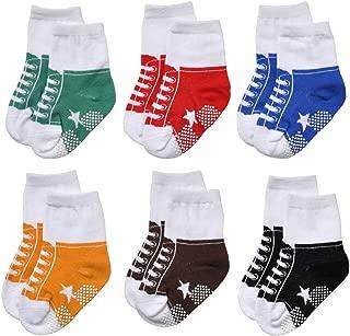 Unisex Baby Girls Boys Non-Slip Socks (Set of 6)