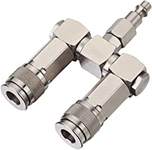 FIXSMITH Air Hose Connector- 2 Way Air Hose Splitter,1/4 In NPT, Air Compressor..