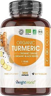 Höghållfast gurkmeja pulvertabletter med bioperin – 1500 mg styrka tillägg, svartpeppar extrakt för absorberande, gurkumex...