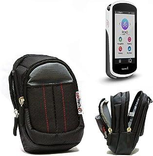 Navitech Schwarz Schutztasche/Tasche/Schutzhülle/Fall/Gehäuse für Garmin Edge 1030 Bundle inklusive Gürtel und Handschlaufe