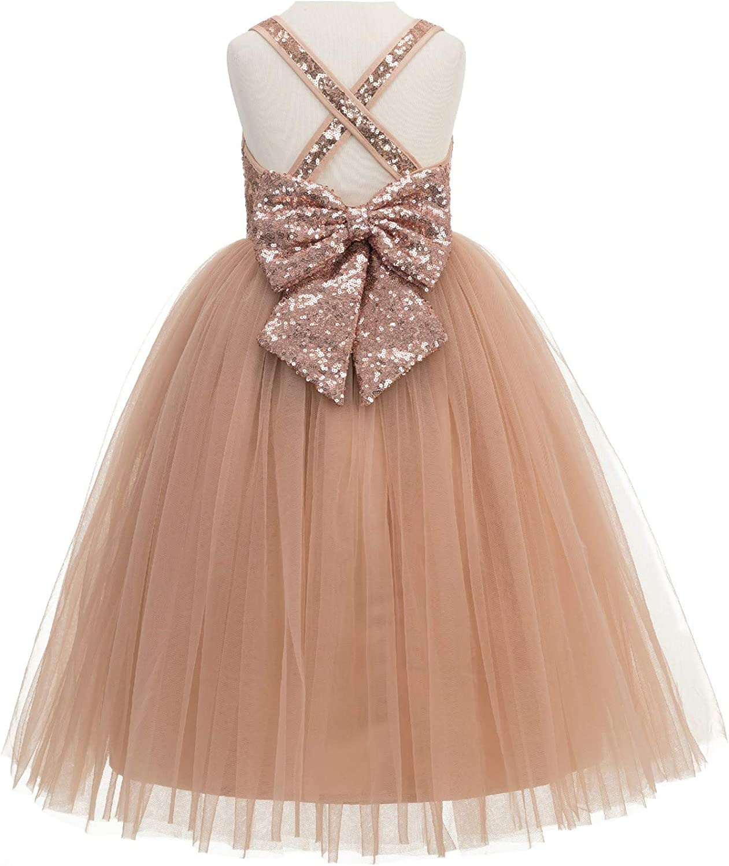 ekidsbridal Crossed Straps A-Line Junior Flower Girl Dresses Pageant Dress Ball Gown 177