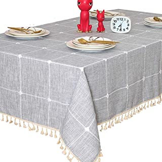 TEWENE Tablecloth, Rectangle Table Cloth Cotton Linen...