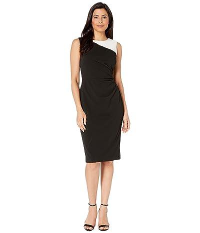 LAUREN Ralph Lauren Finnlie Two-Tone Dress (Black/Cream) Women