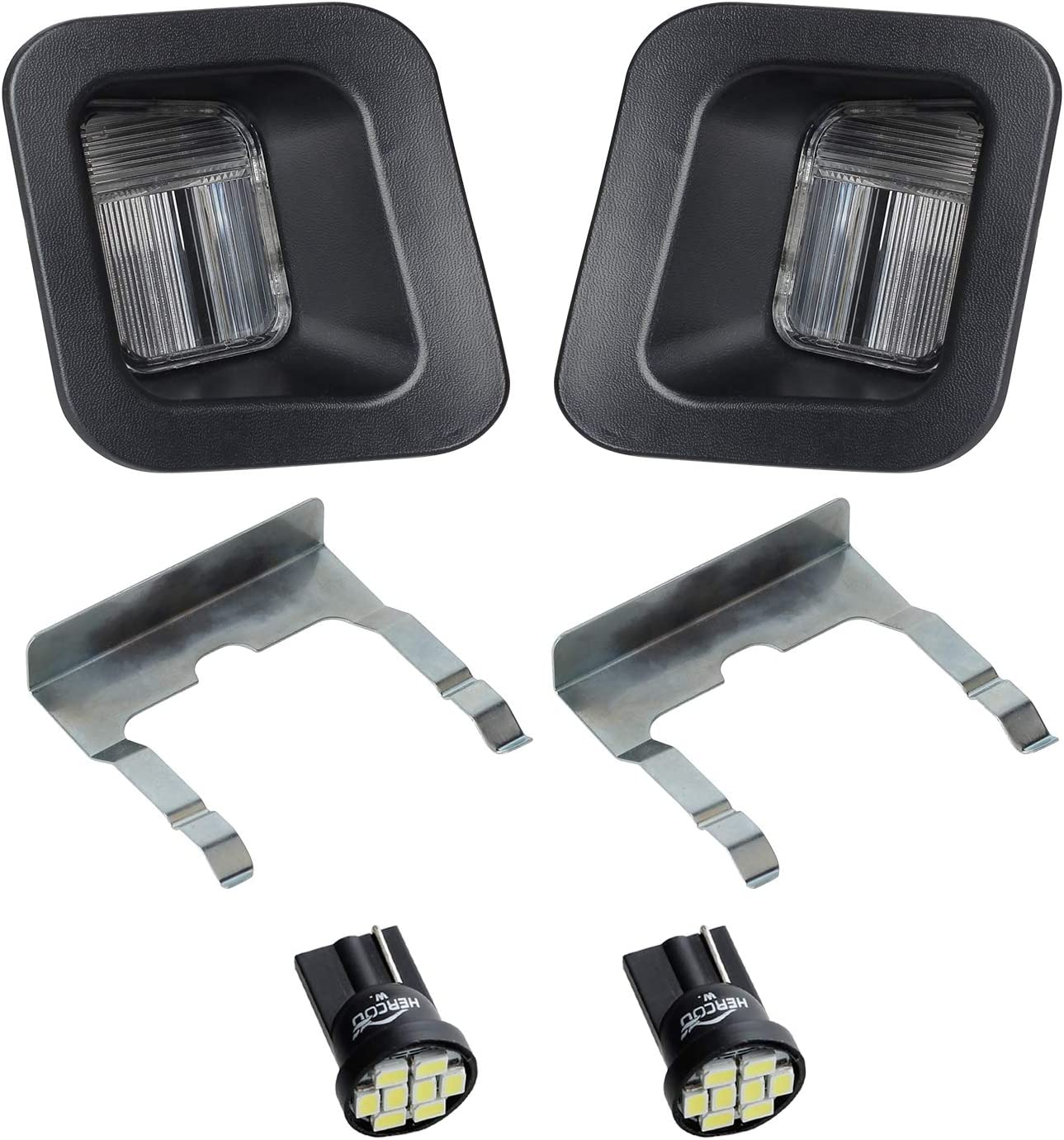 HERCOO Sales of SALE items from new works LED License Plate Light Lamp Lens Bul Housing Ranking TOP15 Black White