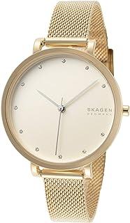 Skagen Denmark Hagen Three-Hand Gold-Tone Steel-Mesh Women's Watch