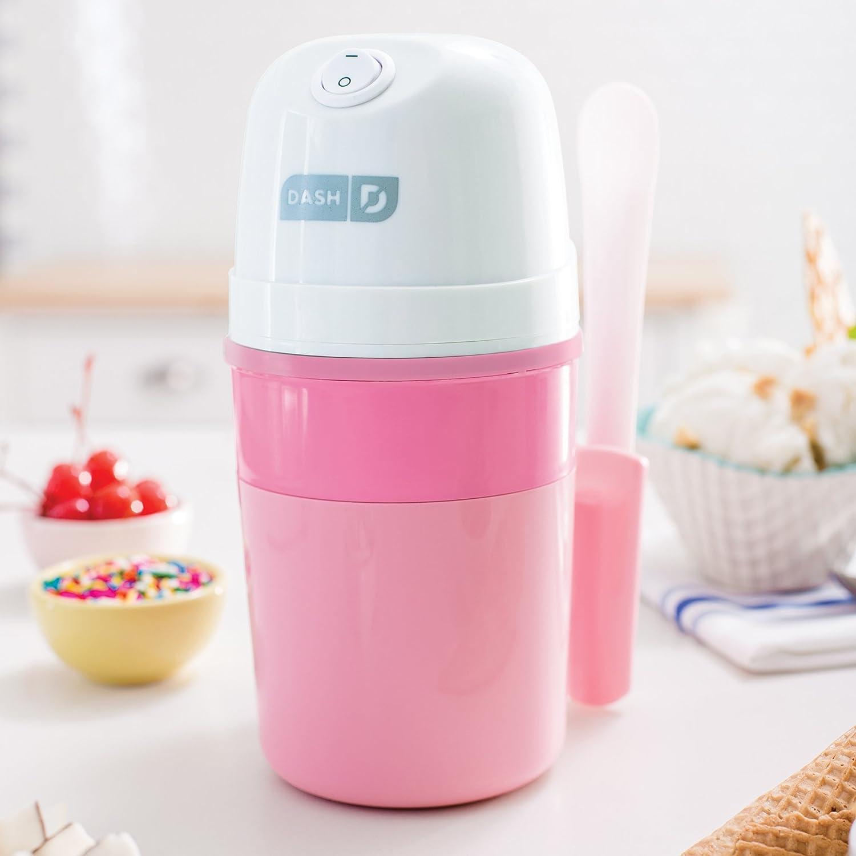 Organic, Sugar Free, Flavored Healthy Snacks + Dessert for Kids /& Adults Frozen Yogurt with Mixing Spoon /& Recipe Book Aqua 0.4qt Sorbet DASH My Pint Electric Ice Cream Maker Machine for Gelato