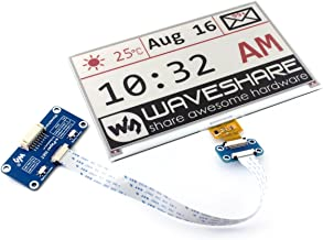 Waveshare 7.5inch E-Ink display HAT Screen Red Black White Three-color No Backlight Ultra low power consumption for Raspberry Pi 640x384 Resolution E-paper via SPI Interface