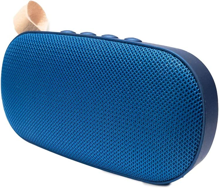 Altavoz portátil de 6W con tecnología Bluetooth BSL-G5 (Azul)  Resistente a Polvo y Salpicaduras  Reproductor mp3   Puerto USB y SD   Toma Auxiliar